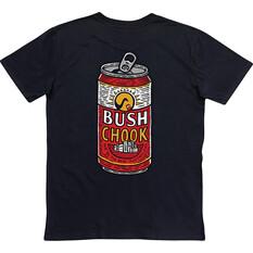 Bush Chook Men's Relief Tee Black S, Black, bcf_hi-res