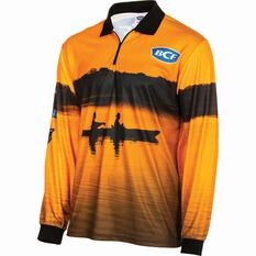 BCF Men's Kayak Sublimated Polo Orange S, Orange, bcf_hi-res
