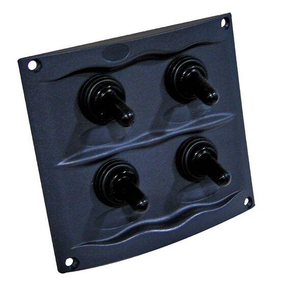 Switch Panel 4 Gang Grey, , bcf_hi-res