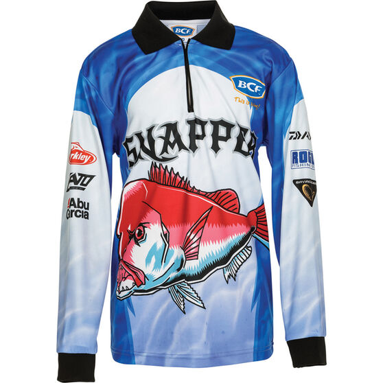 BCF Kids' Snapper Sublimated Polo, Blue, bcf_hi-res