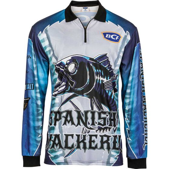 BCF Men's Spanish Mackerel Sublimated Polo Blue 3XL, Blue, bcf_hi-res
