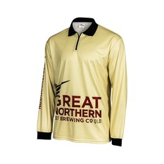 The Great Northern Beach Camo Men's Sublimated Polo Sand XS, Sand, bcf_hi-res