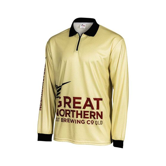 The Great Northern Beach Camo Men's Sublimated Polo, Sand, bcf_hi-res