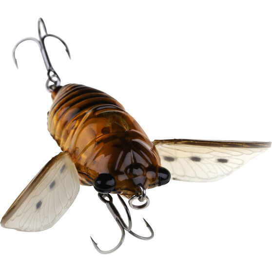Savage 3D Cicada Surface Lure 4.8cm Natural Clear, Natural Clear, bcf_hi-res