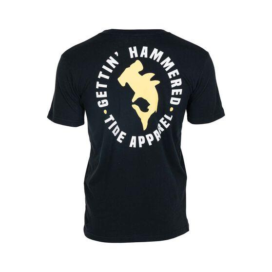 Tide Apparel Men's Hammered Tee, Black, bcf_hi-res