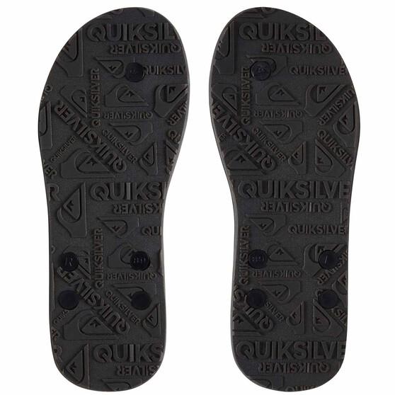 Quiksilver Carver II Deluxe Thongs, Black / Brown, bcf_hi-res
