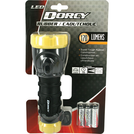Dorcy LED Rubber Grip Torch 3xAA, , bcf_hi-res