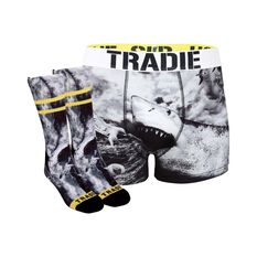 Tradie Shark Black Socks and Jocks Shark Black S, Shark Black, bcf_hi-res