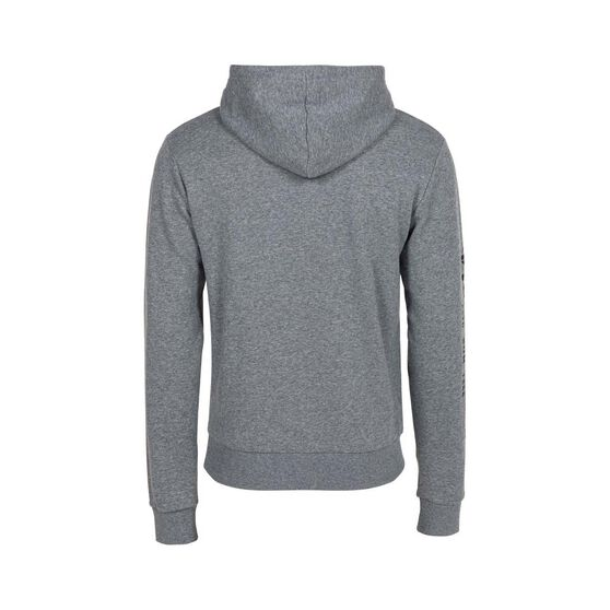 Bundaberg Rum Men's Hooded Fleece Sweater, Grey Marle, bcf_hi-res