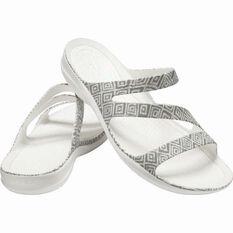Crocs Women's Graphic Swiftwater Sandal Grey Diamond/White 6, , bcf_hi-res