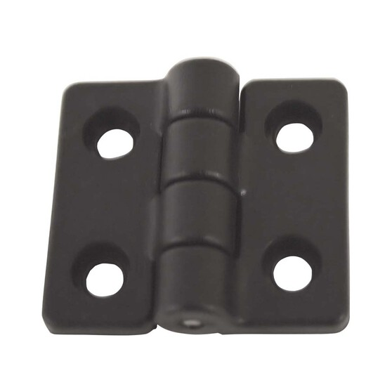 RWB Black Nylon Hinge Pair 40mm x 35mm, , bcf_hi-res