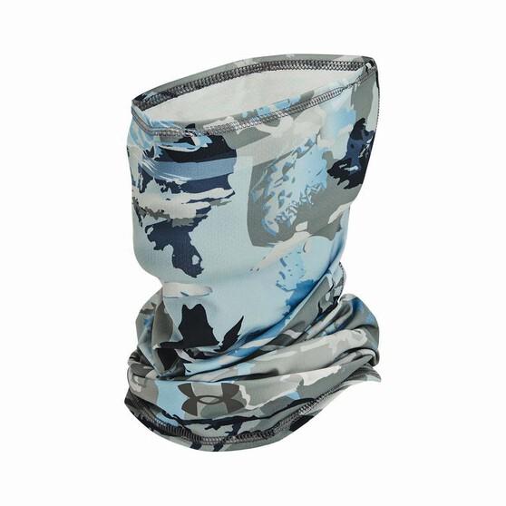 Under Armour Unisex Isochill Shorebreak Neck Gaiter Hydro Camo / White OSFM, Hydro Camo / White, bcf_hi-res
