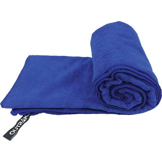 Outrak Microfibre Towel - Large Navy, Navy, bcf_hi-res