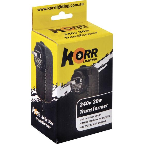 Korr 240V to 12V DC Transformer 36W, , bcf_hi-res