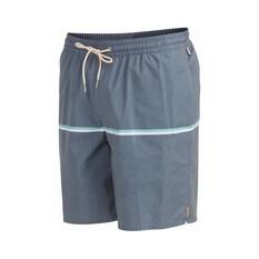 Quiksilver Men's The Deck Stripe Volley Shorts Blue 30, Blue, bcf_hi-res
