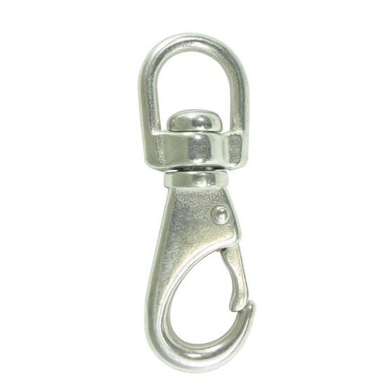 Blueline Stainless  Snap Hook Swivel Eye 65mm, , bcf_hi-res
