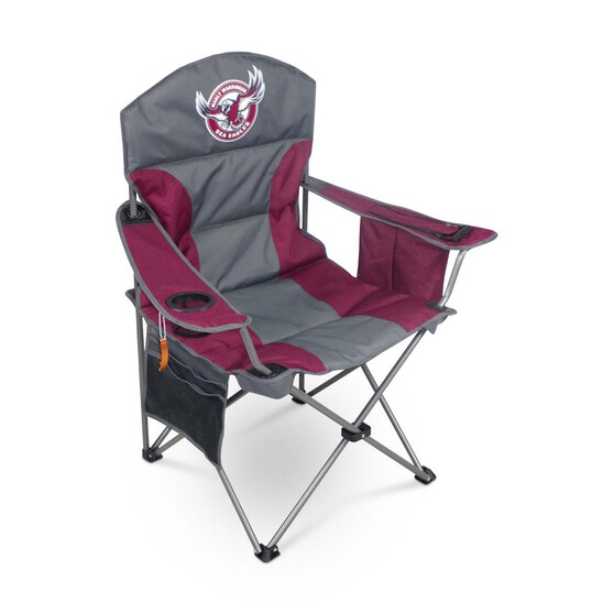 NRL Manly Sea Eagles Camp Chair, , bcf_hi-res