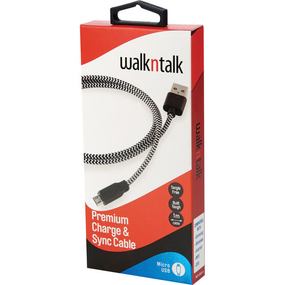 Walkntalk Micro USB Charge and Sync Cable, , bcf_hi-res