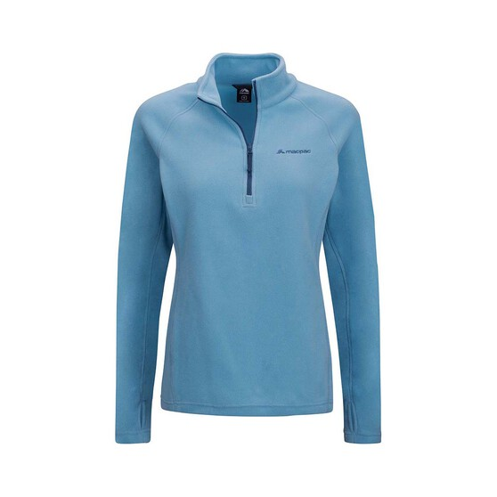 Macpac Women's Tui Fleece Pullover, Delphinium Blue, bcf_hi-res