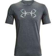 Under Armour Men's Fish Hook Logo Short Sleeve Tee Pitch Grey / Realtree COV3 S, Pitch Grey / Realtree COV3, bcf_hi-res