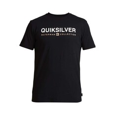 Quiksilver Waterman Men's Short Line Tee Black S, Black, bcf_hi-res