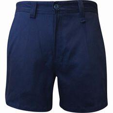 Tradie Men's Slim Fit Short Length Shorts Navy 77R, Navy, bcf_hi-res