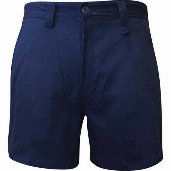 Tradie Men's Slim Fit Short Length Shorts, Navy, bcf_hi-res
