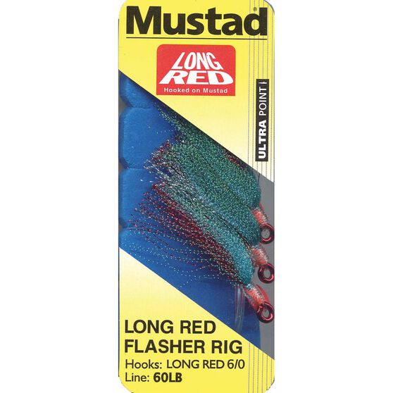 Mustad Long Red Flasher Rig, , bcf_hi-res