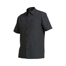 Quiksilver Waterman Men's Centinela Short Sleeve Shirt Black S, Black, bcf_hi-res