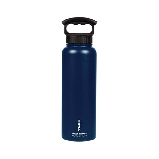 Fifty Fifty Insulated Drink Bottle 1.1L Navy, Navy, bcf_hi-res