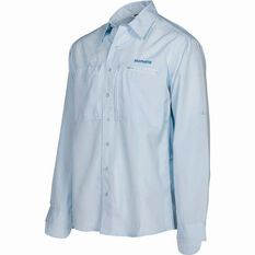 Shimano Men's Slim Fit Pro Vented Long Sleeve Shirt Ice S, Ice, bcf_hi-res