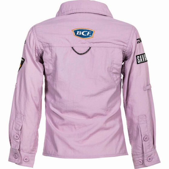 BCF Kids' Long Sleeve Fishing Shirt Orchid 16, Orchid, bcf_hi-res