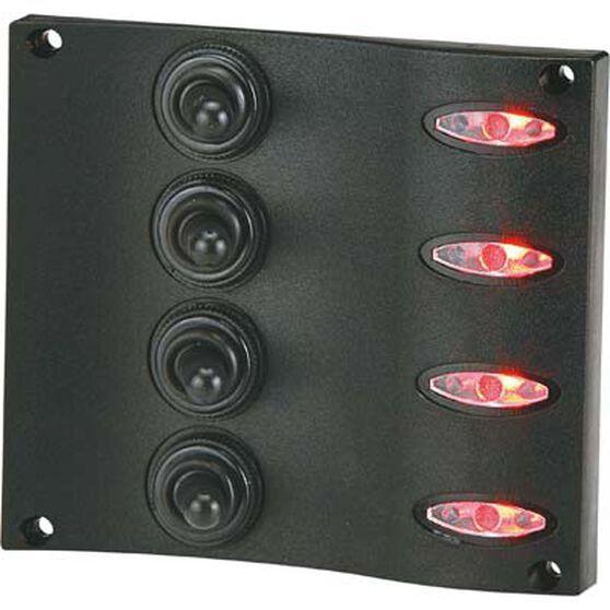 LED Switch Panel 4 Gang Vertical, , bcf_hi-res