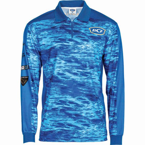 BCF Men's Corporate Sublimated Polo Blue 2XL, Blue, bcf_hi-res