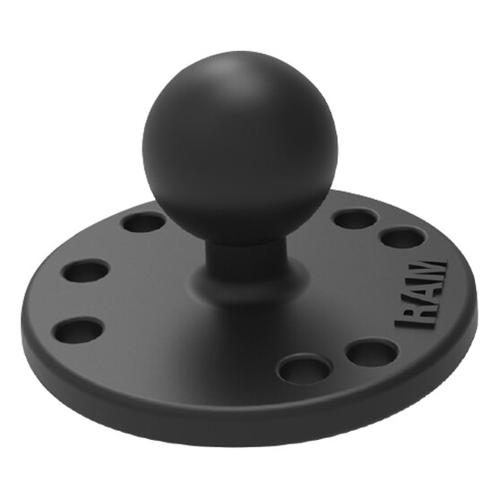 RAM 63mm Round Plate with 25mm B Ball, , bcf_hi-res
