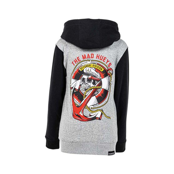 The Mad Hueys Youth Sinking Captain Pullover Hoodie, Grey / Black, bcf_hi-res