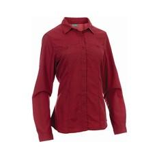 OUTRAK Women's Long Sleeve Hiking Shirt Claret 8, Claret, bcf_hi-res