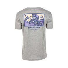 Tide Apparel Men's Bloody Oath V2 Tee Grey Marle S, Grey Marle, bcf_hi-res