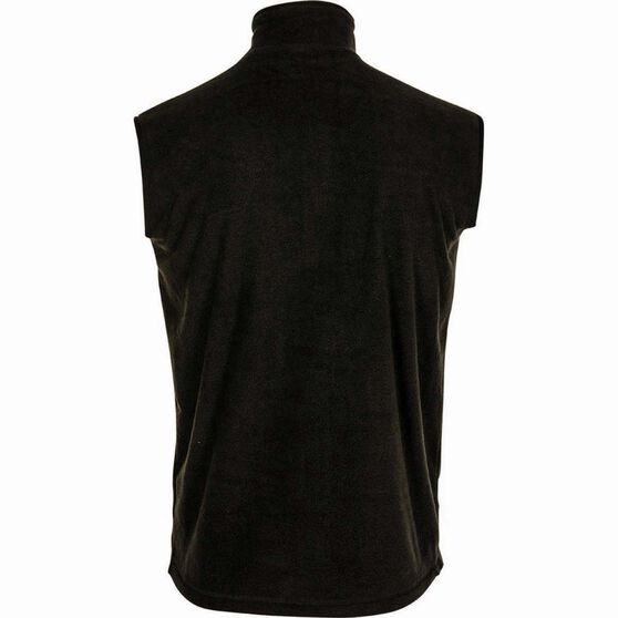 OUTRAK Men's Basic Fleece Vest, Black, bcf_hi-res