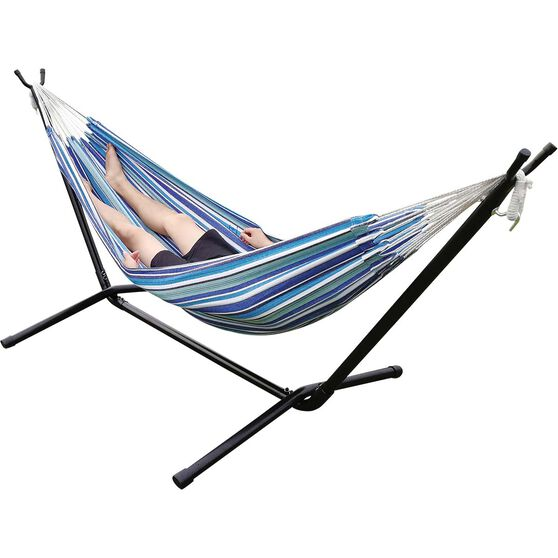 Summer Stripe Single Hammock, , bcf_hi-res