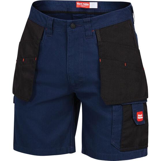 Hard Yakka Men's Xtreme Y05083 Cargo Shorts Navy / Black 92R, Navy / Black, bcf_hi-res