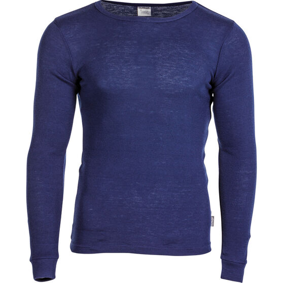OUTRAK Men's Polypro Long Sleeve Top, Blue Depths, bcf_hi-res