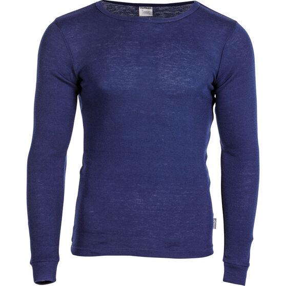 OUTRAK Men's Polypro Long Sleeve Top Blue Depths M, Blue Depths, bcf_hi-res