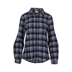 OUTRAK Women's Yarn Dye Flannel Shirt Navy / Pink 8, Navy / Pink, bcf_hi-res