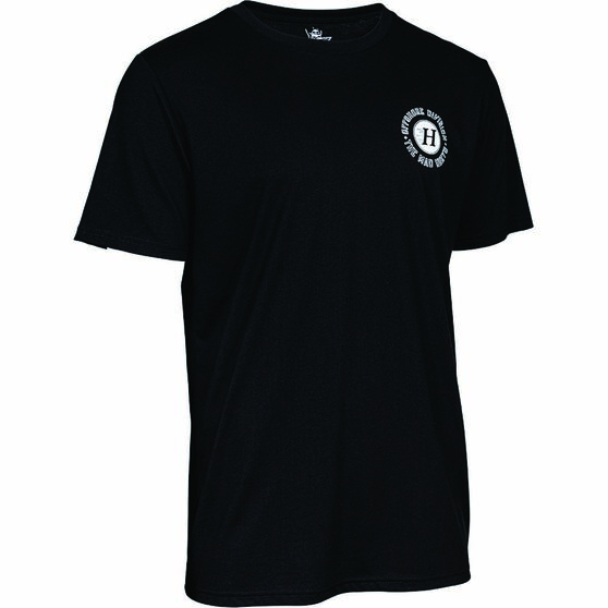 The Mad Hueys Men's Armed Short Sleeve UV Tee, Black, bcf_hi-res