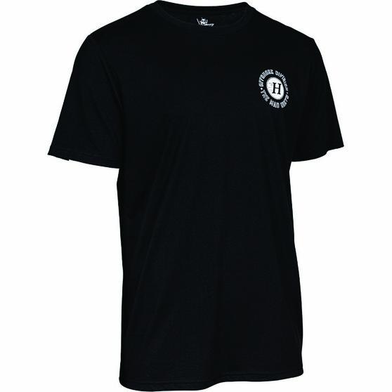 The Mad Hueys Men's Armed Short Sleeve UV Tee, Black, bcf_hi-res