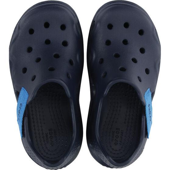 Crocs Kids' Swiftwater Wave Sandals, Navy, bcf_hi-res
