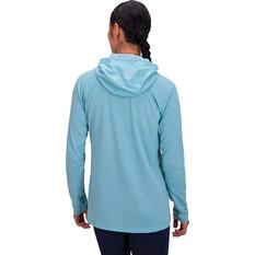 macpac Women's Eyre V2 Long Sleeved Hooded Top, Reef, bcf_hi-res