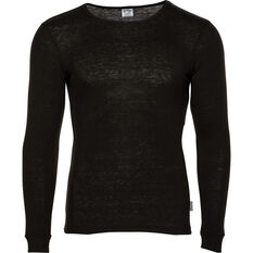 Men's Polypro Long Sleeve Top Black S, Black, bcf_hi-res