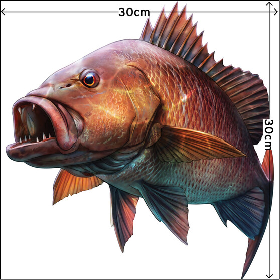 Savage Mangrove Jack Sticker Large 2 Pack, , bcf_hi-res